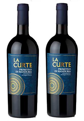 Rượu vang La Curte Nhãn xanh Primitivo Di Manduria DOP Cao cấp