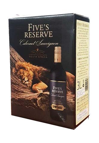 Rượu vang Five's Reserve Cabernet Sauvignon - Vang bịch hình sư tử