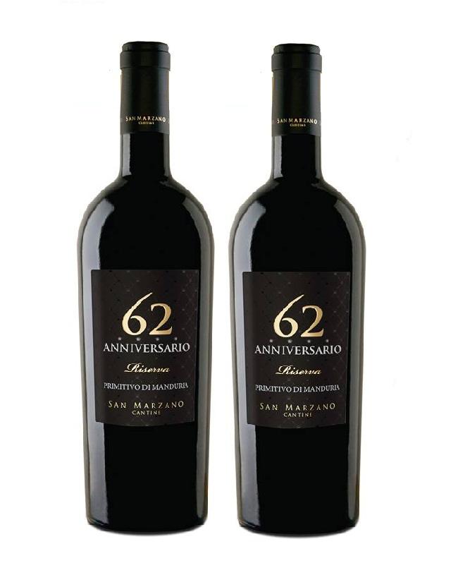 Rượu vang Ý 62 Anniversario Primitivo