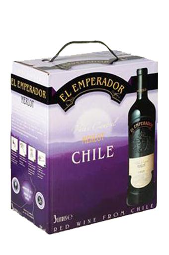 Rượu Vang Bịch Chile Emperador Merlot 3 lít