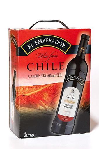 Rượu Vang Bịch Chile El Emperador Cabernet Carmenere 3 lít