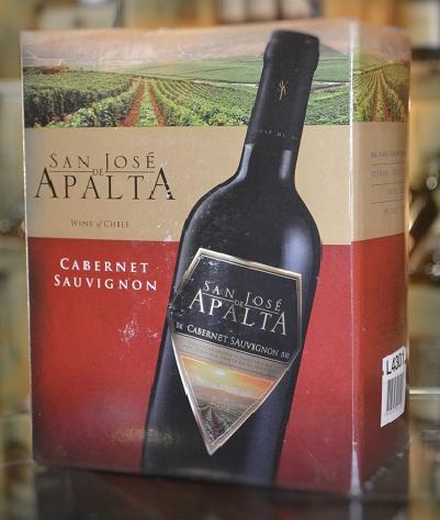 Vang bịch Chile San de Jose Apalta Cabernet Sauvignon 3L giá rẻ