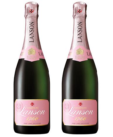 Champagne Pháp Lanson Rose Label Nhãn Hồng
