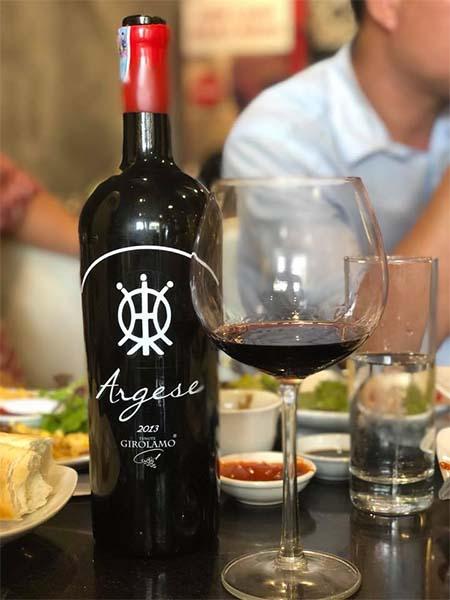 Rượu vang Argese Girolamo siêu phẩm 18%