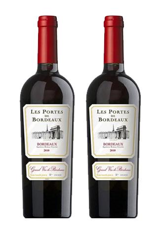 Rượu vang Pháp Les Portes de Bordeaux Rouge