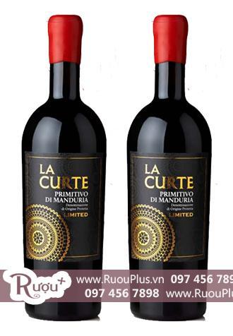 Rượu vang La Curte 19 độ Limited Primitivo Di Manduria Cao cấp