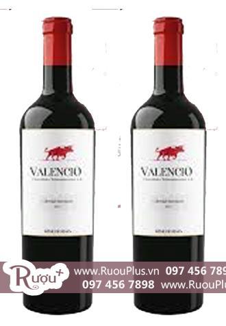 Rượu vang Valencio - Vang hình con bò đỏ Giá rẻ
