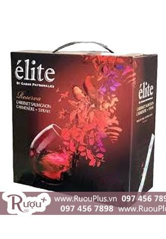 Rượu vang bịch Elite Reserva 3 Lít Cao cấp