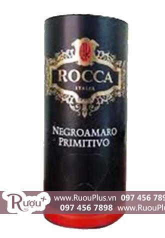 Rượu vang bịch Rocca Negroamaro Primitivo 13,5% Cao cấp