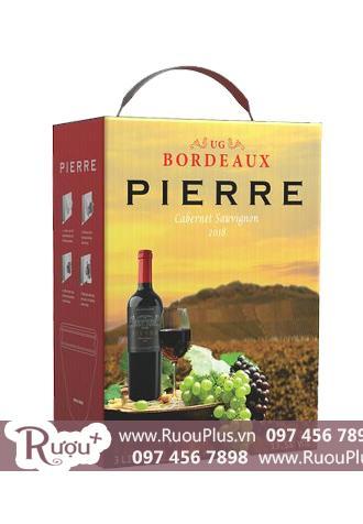 Rượu vang bịch Pierre Bordeaux 3L Cabernet Sauvignon