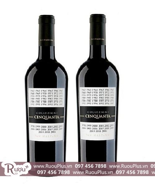 Rượu vang Collezione Cinquanta - Vang 50 năm