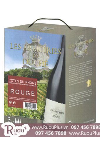 Rượu Vang Bịch Pháp Les Armoiries 3 Lít
