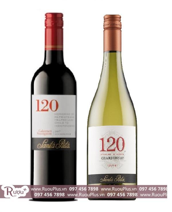Rượu vang Chile 120 Santa Rita