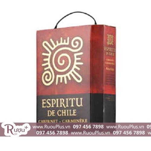 Vang bịch Mặt trời Espiritu De Chile 3l Cabernet Carmenère