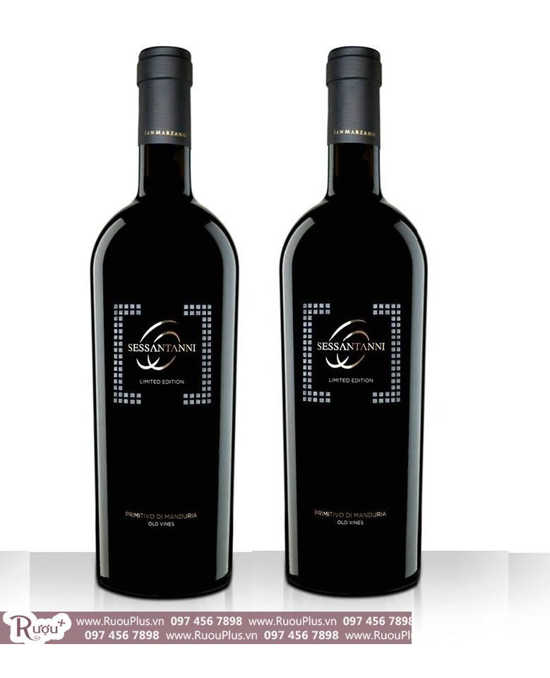 Rượu vang Ý 60 Sessantanni Primitivo Limited Edition