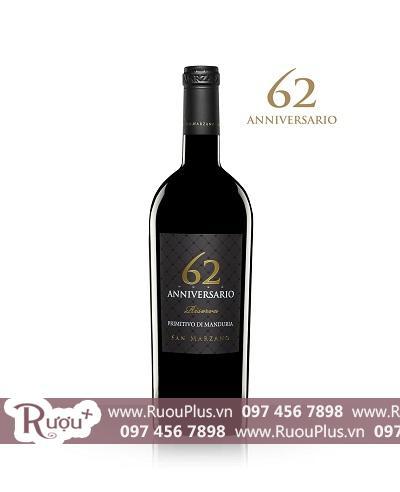 Rượu vang Ý 62 Anniversario 1,5 lit