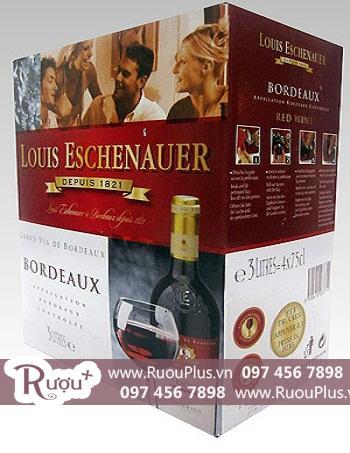 Vang bịch Pháp Louis Eschenauer Bordeaux 3 lít giá rẻ