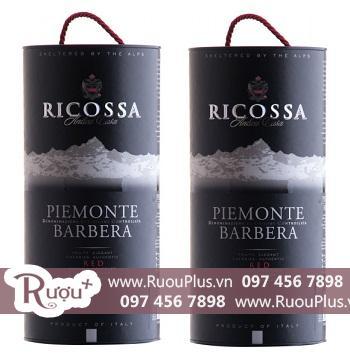 Rượu vang Bịch Ý Piemonte Barbera Ricossa 3 lít giá rẻ
