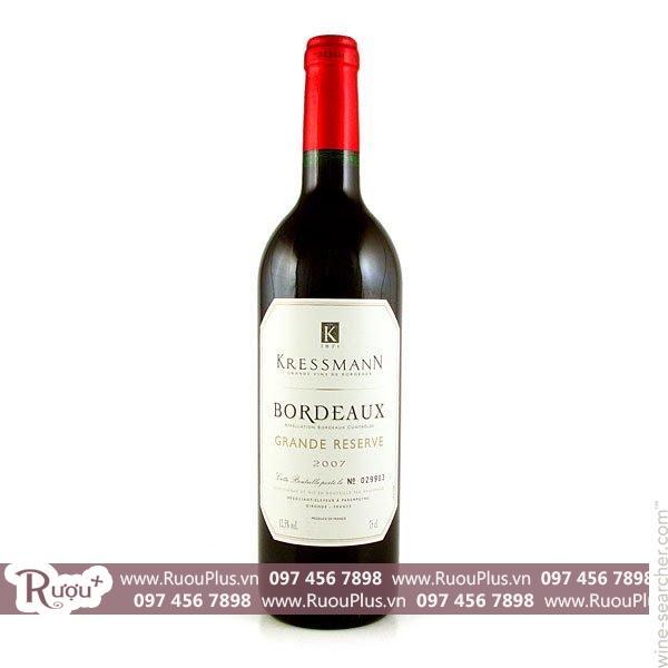 Rượu vang Pháp Kressmann Grande Reserve Bordeaux