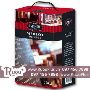 Vang Bịch LesTaminet MerLot 3 và 5 lít