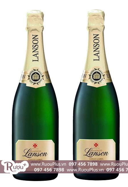 Champagne Pháp Lanson Gold Label nhãn vàng