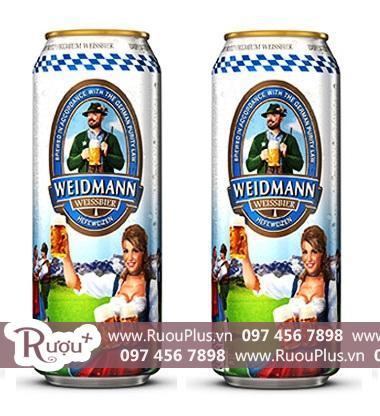 Bia Hà Lan lon Weidmann Hefetrüb 500ml