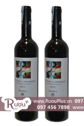 Rượu vang Bồ Đào Nha Alentejano Tapeteiras De Arraiolos Reserva 2010