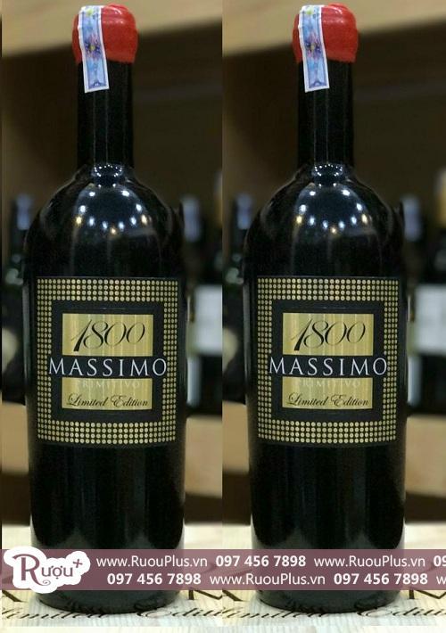 Rượu vang 18 độ Ý 1800 Massimo