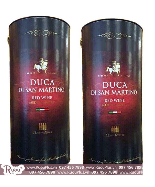 Rượu vang bịch Duca DiSan martino 3 Lít Giá rẻ