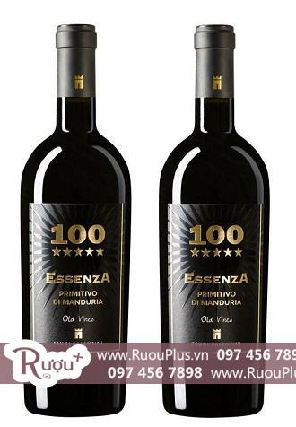 Rượu vang Ý 100 Essenza  Primitivo Di Manduria