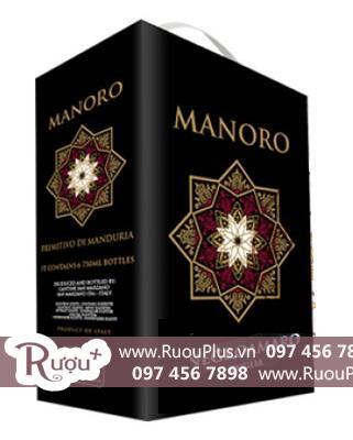 Rượu vang bịch Ý Manoro Negroamaro giá bán rẻ nhất