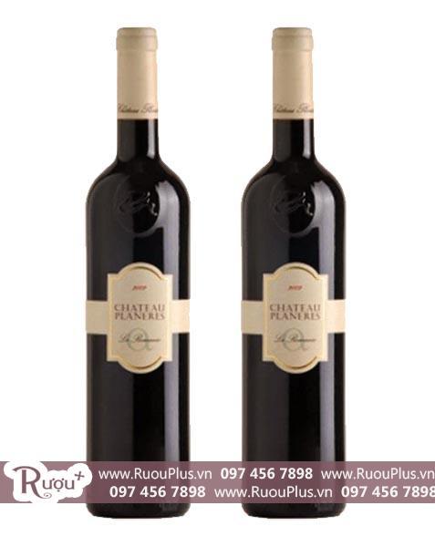 Rượu vang Chateau Planeres La Romanie 2009