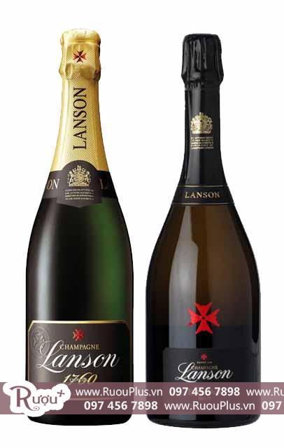 Rượu Champagne Lanson giá bán rẻ đang sale