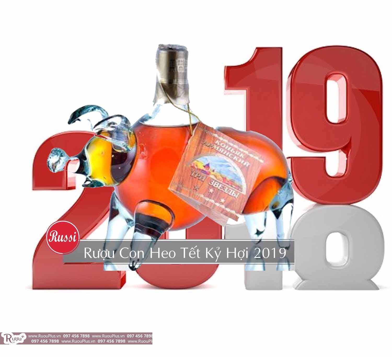 Giá rượu hình con heo - lợn của Nga