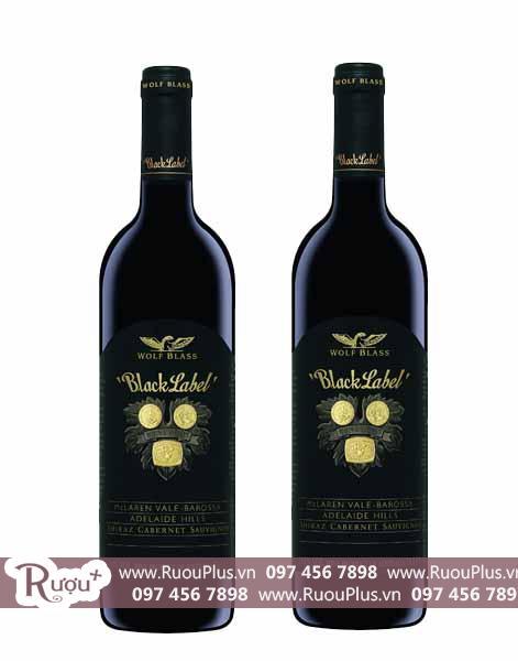 Rượu vang Úc Wolf Blass Black Label