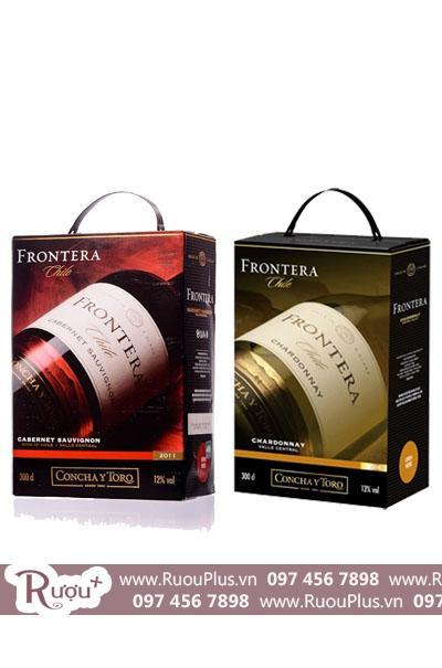 Rượu vang bịch Chile Concha y Toro Frontera trắng đỏ