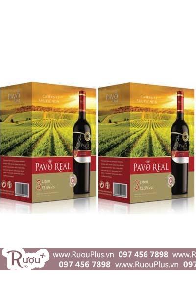 Rượu vang bịch Chile PAVO REAL Cabernet Sauvignon BIB 3.0L