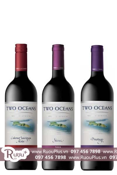 Rượu vang Nam Phi Two Oceans Red
