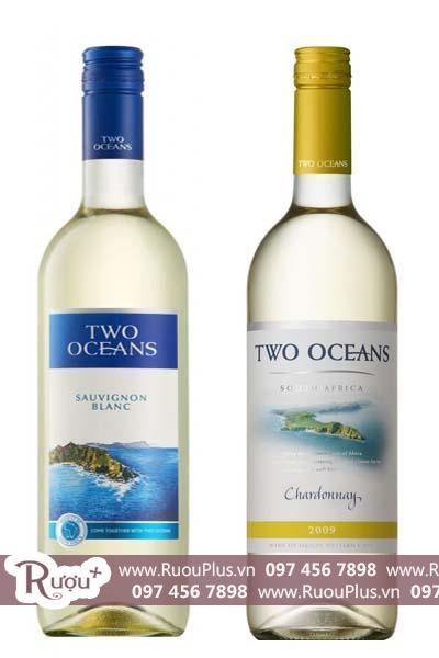 Rượu vang Nam Phi Two Oceans White