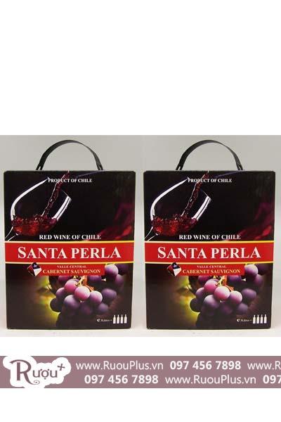 Rượu vang bịch Santa Perla 3L