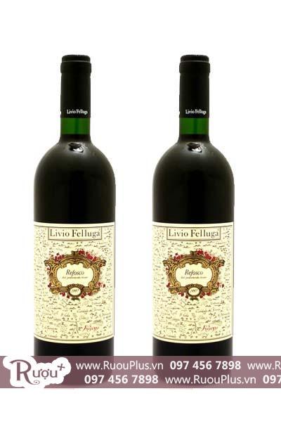 Rượu vang Ý Livio Felluga Refosco dal Peduncolo Rosso