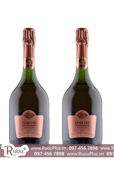 Sâm panh Comtes de Champagne Taittinger Rose