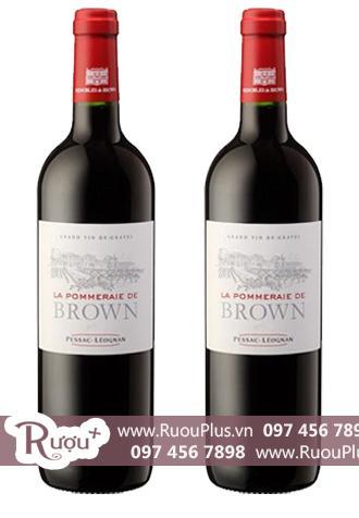Rượu vang Pháp La Pommeraie de Brown Red Cao cấp