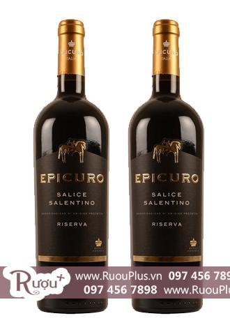 Rượu vang Ý Epicuro Salice Salentino Rosso Reserva