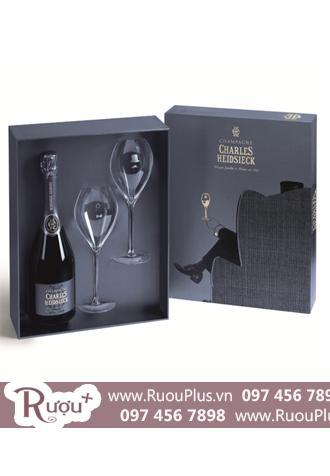 Hộp quà hai ly Champagne Charles Heidsieck Blanc De Blancs