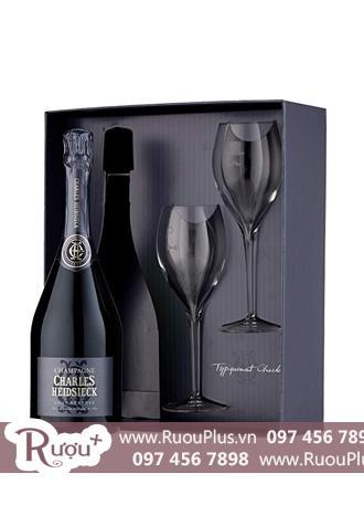 Hộp quà hai ly Champagne Charles Heidsieck Brut Reserve