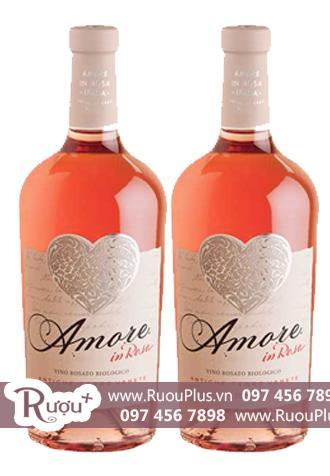 Rượu vang Ý Amore In Rosa Vino Rosato Biologico