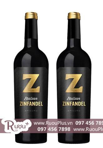 Rượu vang Ý Epicuro Zinfandel Annata