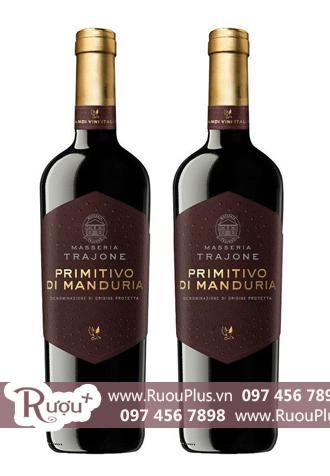 Rượu vang Ý Masseria Trajone Primitivo di Manduria