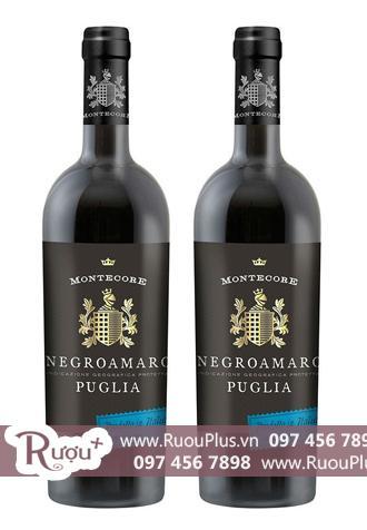 Rượu vang Ý Montecore Negroamaro
